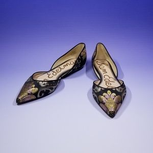 Sam Edelman Rodney Floral Brocade d'Orsay Flats